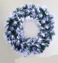 Ghirlanda fibra optica alba